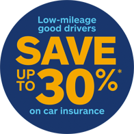 Low-mileage good drivers save up to 30% on car insurance